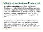 policy and institutional framework2