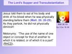 the lord s supper and transubstantiation10