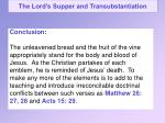 the lord s supper and transubstantiation15