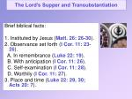 the lord s supper and transubstantiation2