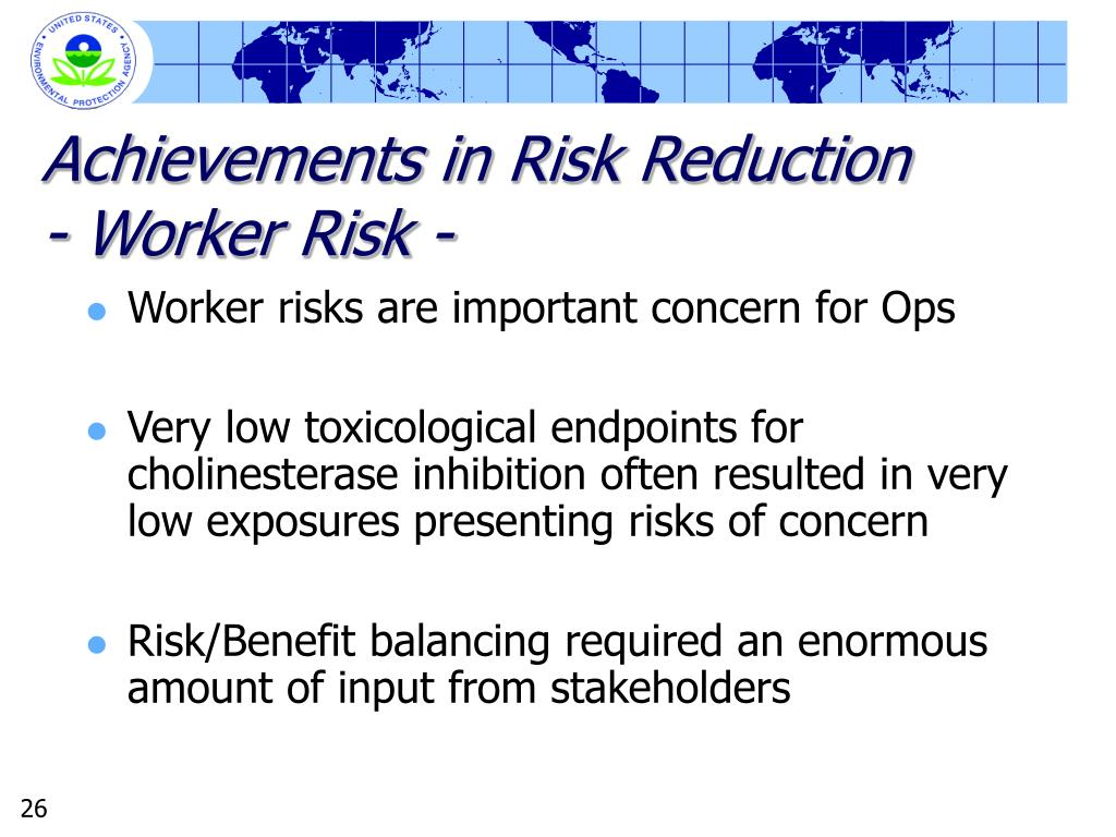 Achievements in Risk Reduction