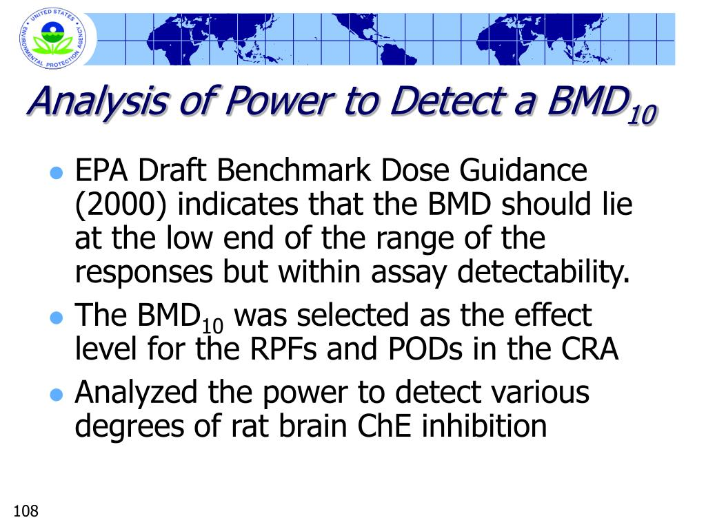 Analysis of Power to Detect a BMD