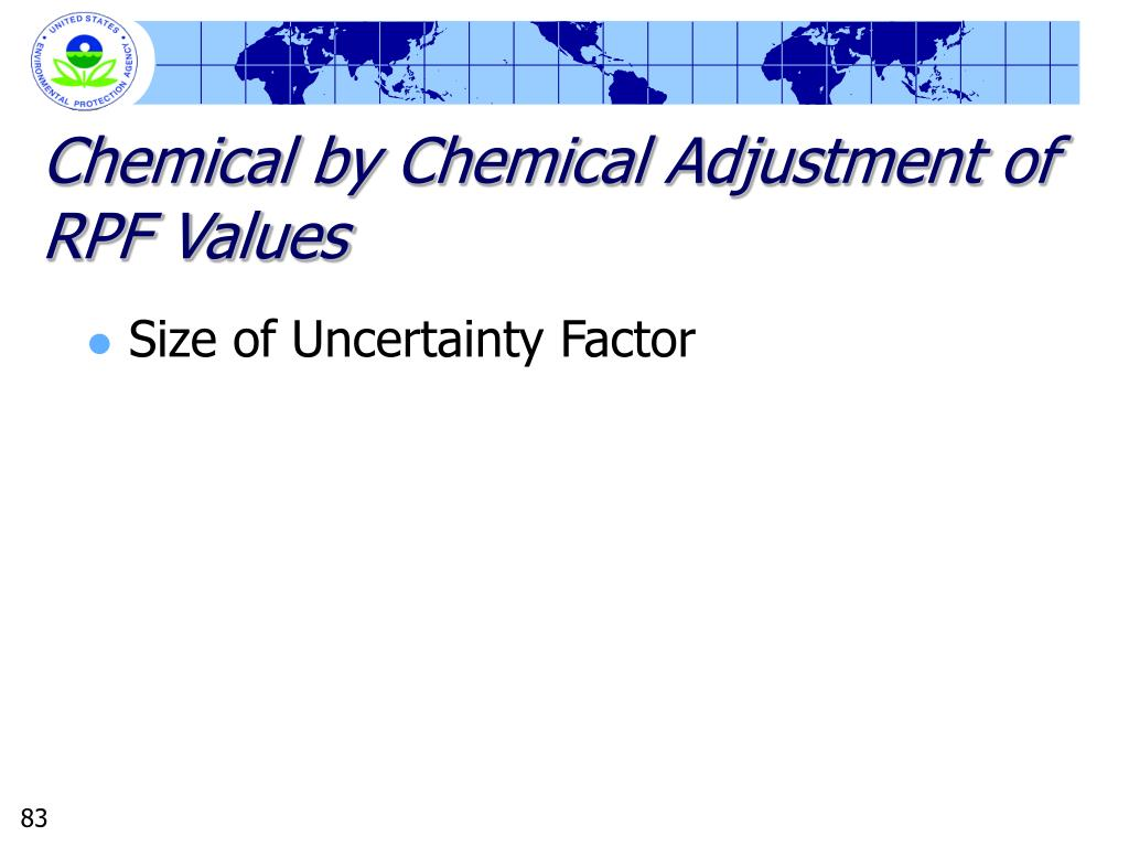 Chemical by Chemical Adjustment of RPF Values