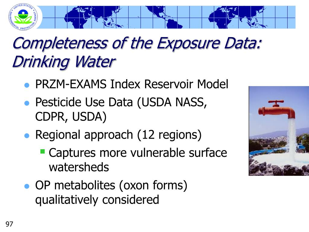 Completeness of the Exposure Data: Drinking Water
