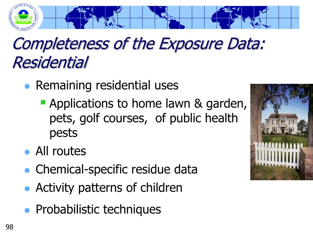 Completeness of the Exposure Data: Residential