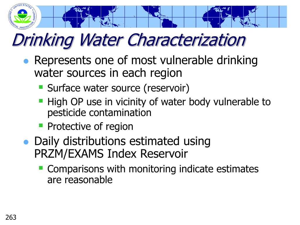 Drinking Water Characterization