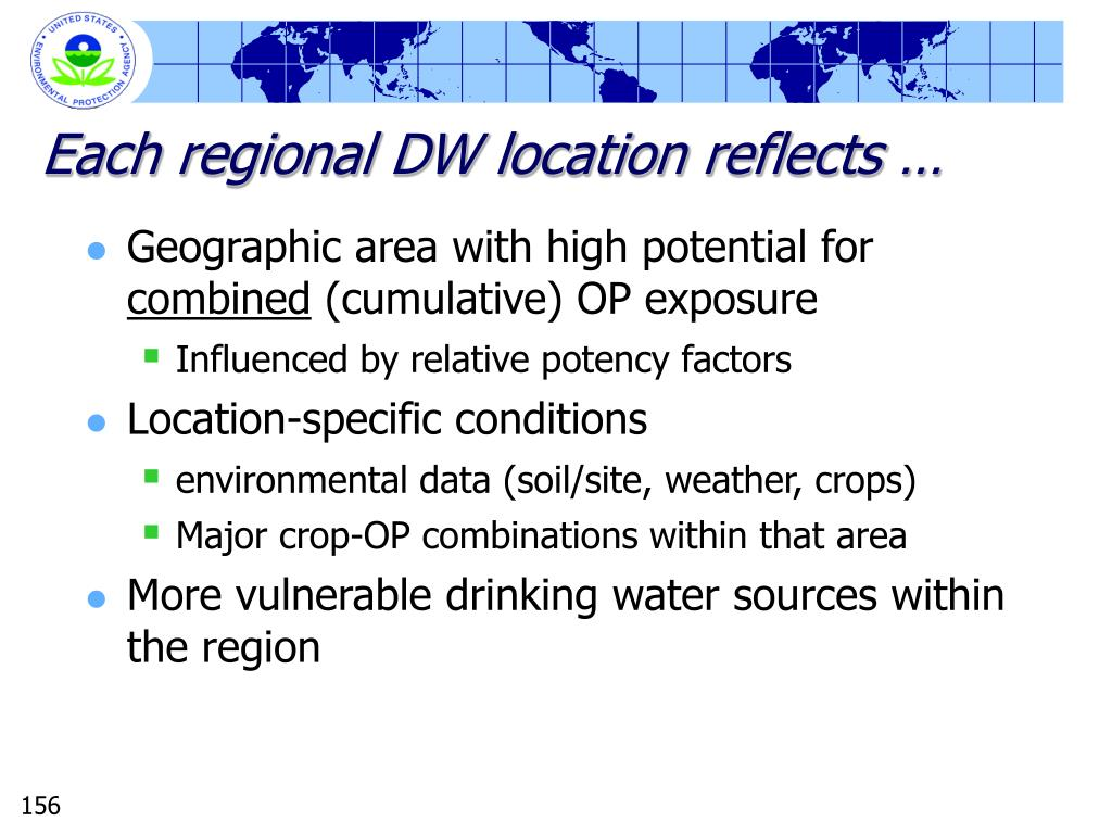 Each regional DW location reflects …