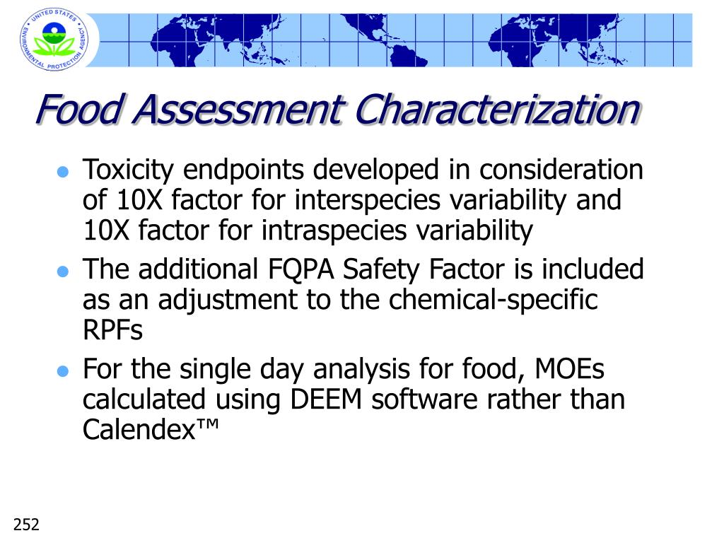 Food Assessment Characterization