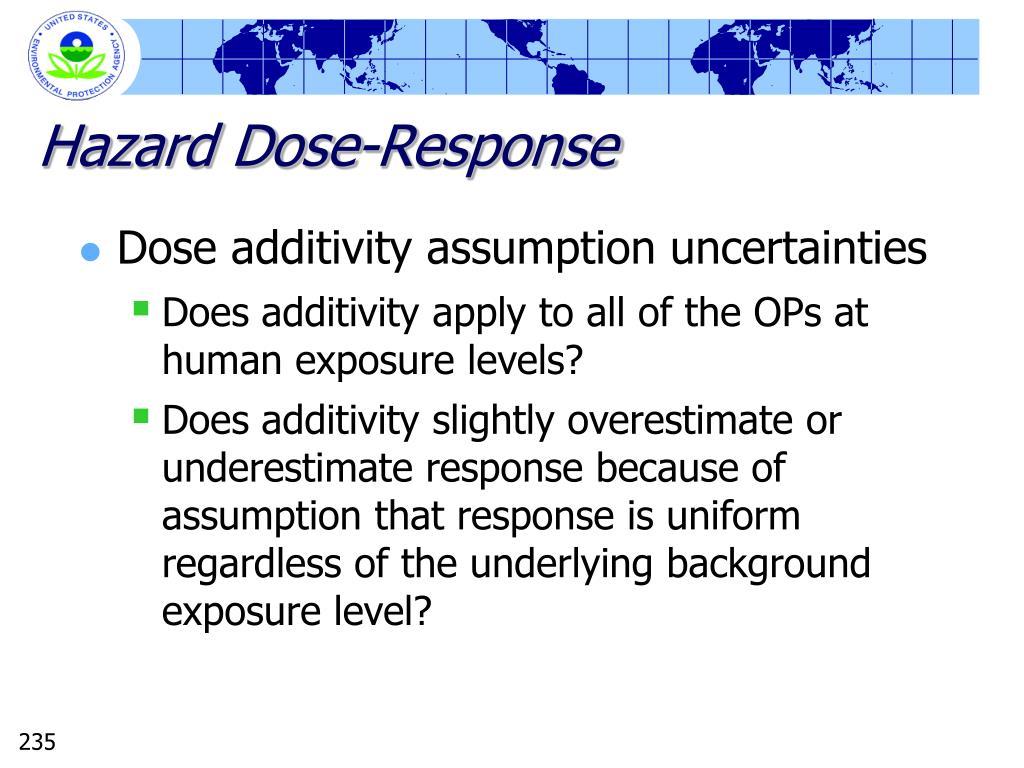 Hazard Dose-Response