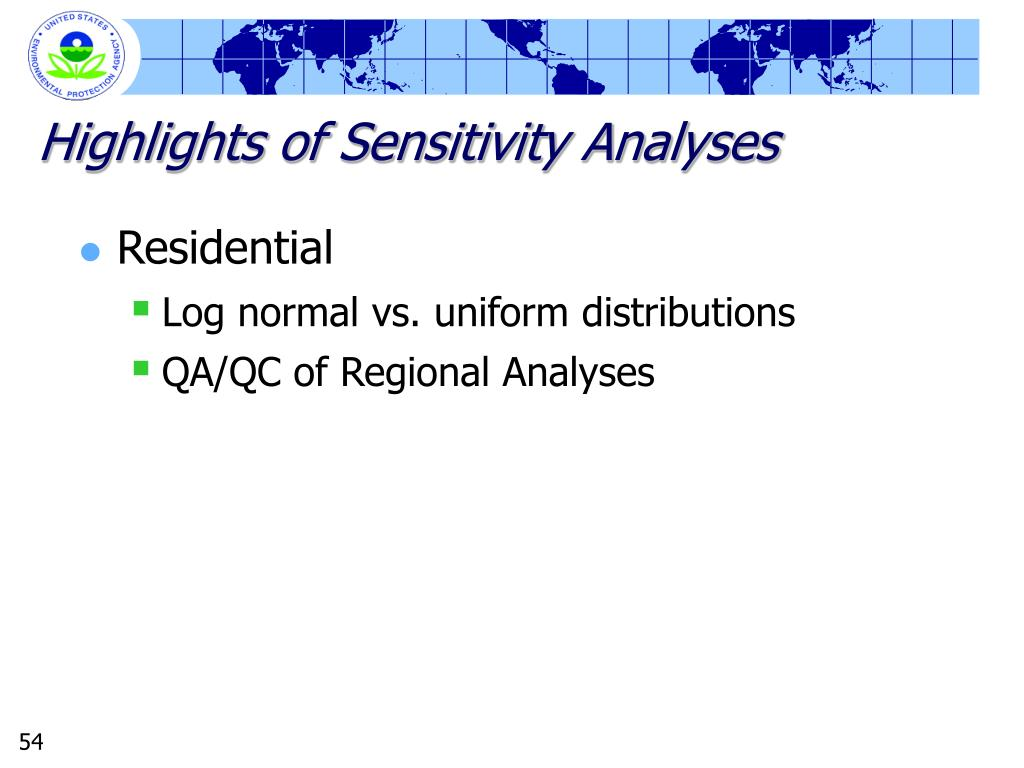 Highlights of Sensitivity Analyses