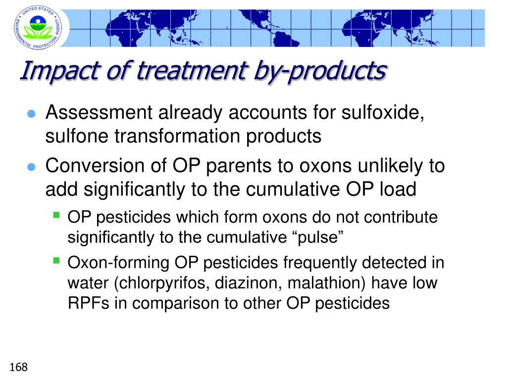 Impact of treatment by-products