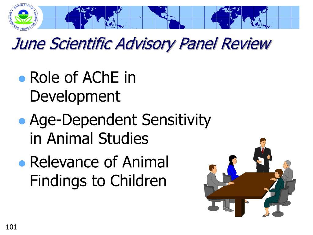 June Scientific Advisory Panel Review