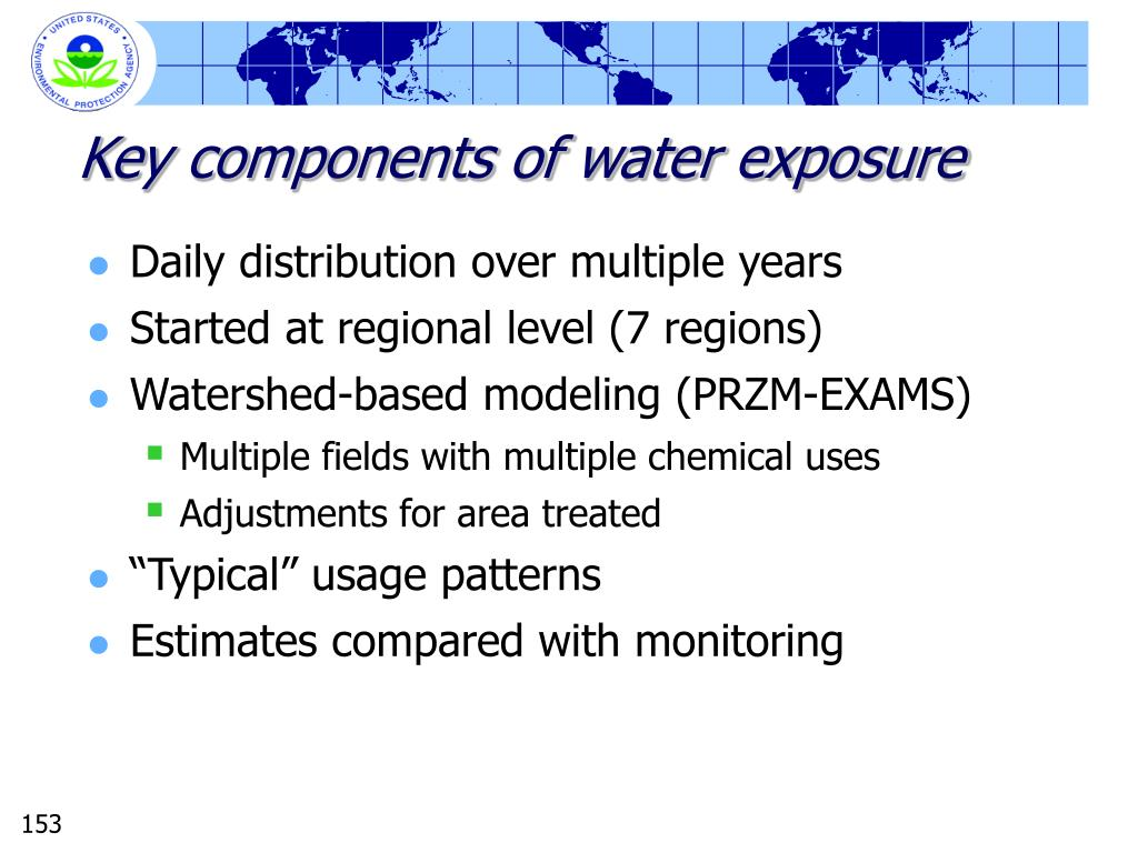 Key components of water exposure