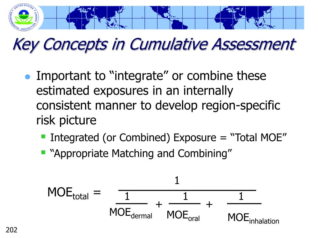 Key Concepts in Cumulative Assessment