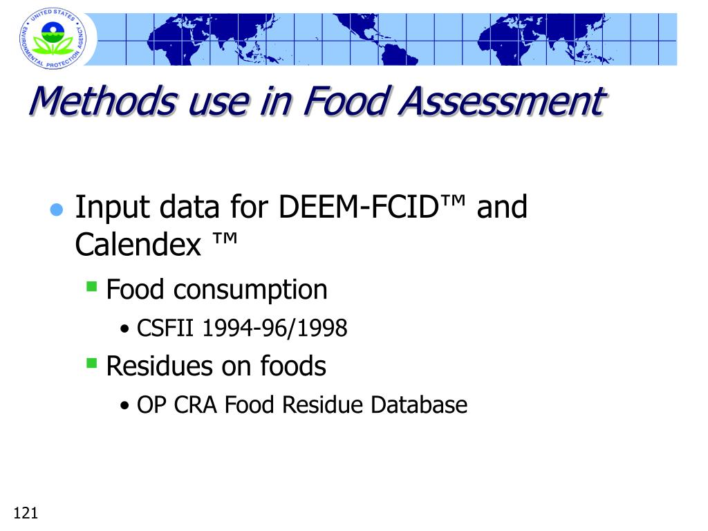 Methods use in Food Assessment