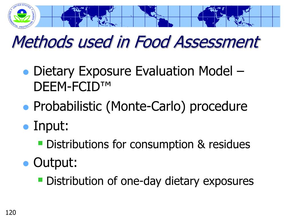 Methods used in Food Assessment