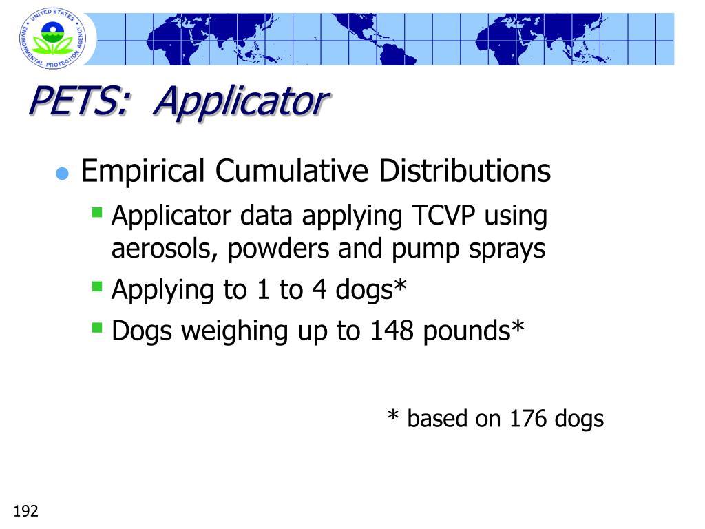 PETS:  Applicator