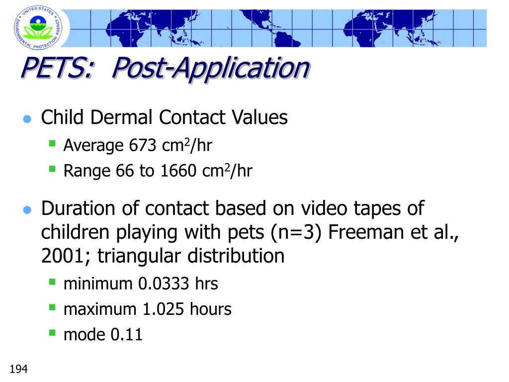 PETS:  Post-Application