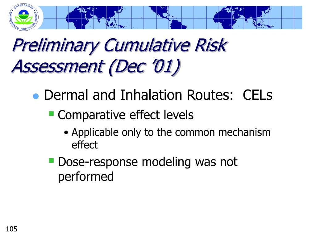Preliminary Cumulative Risk Assessment (Dec '01)