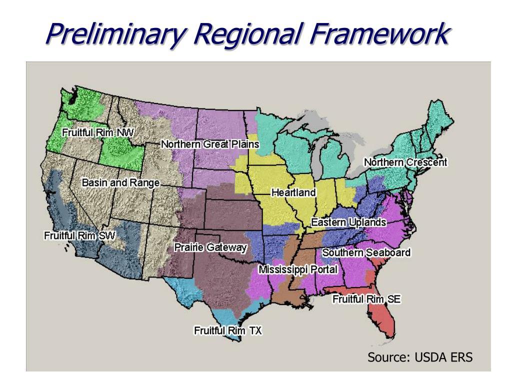 Preliminary Regional Framework