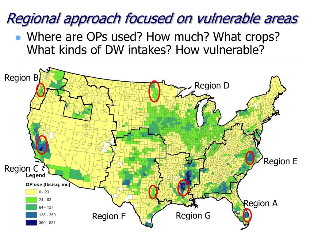Regional approach focused on vulnerable areas