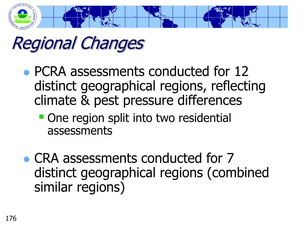 Regional Changes