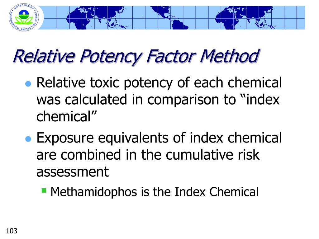 Relative Potency Factor Method