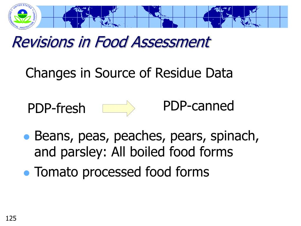 Revisions in Food Assessment