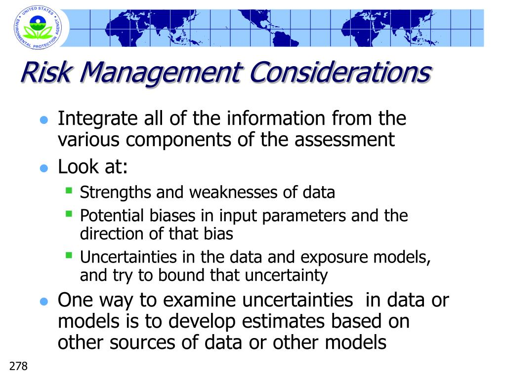 Risk Management Considerations