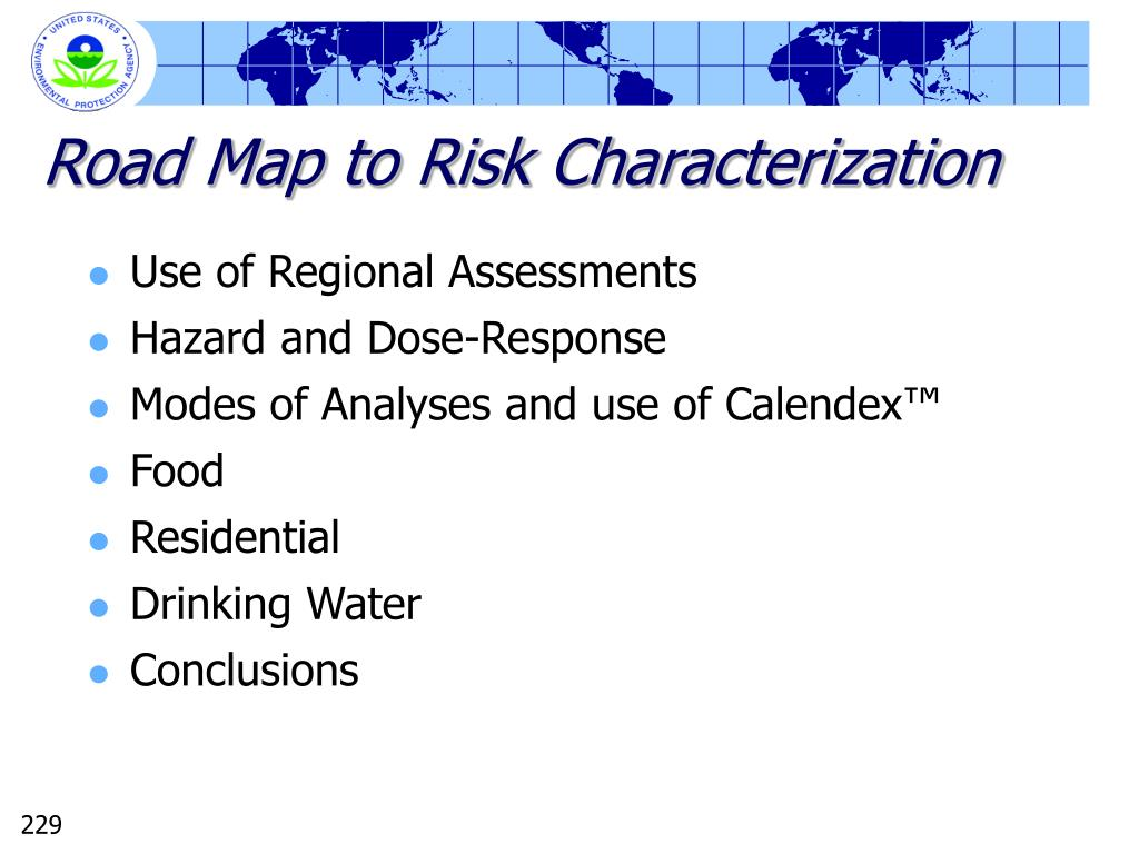 Road Map to Risk Characterization
