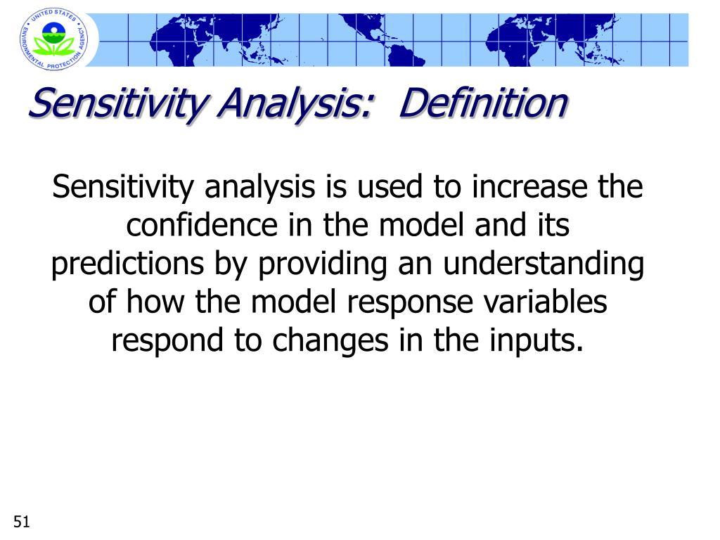 Sensitivity Analysis:  Definition