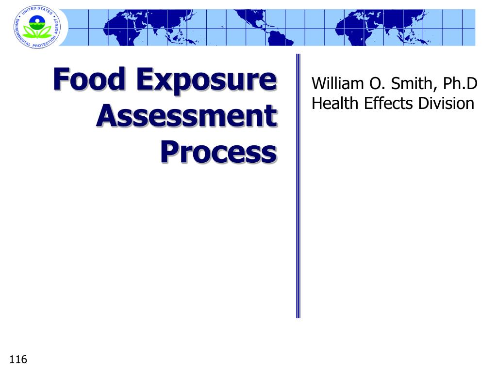 Food Exposure Assessment Process