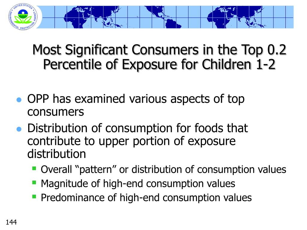 Most Significant Consumers in the Top 0.2 Percentile of Exposure for Children 1-2
