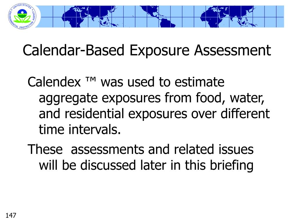 Calendar-Based Exposure Assessment