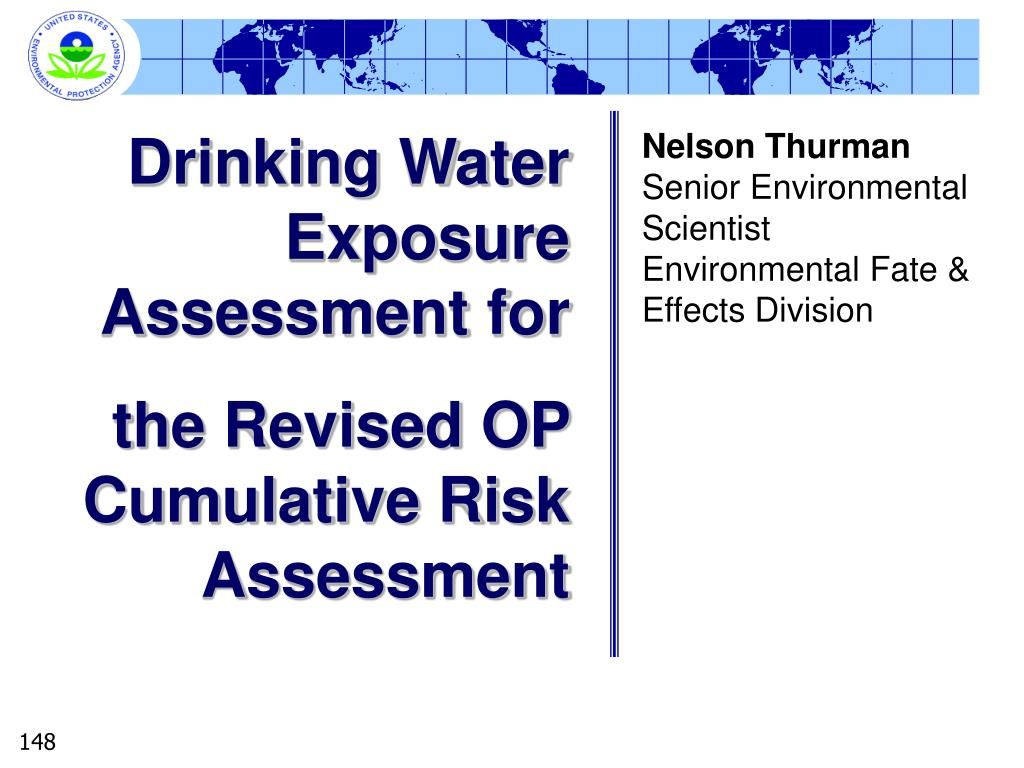 Drinking Water Exposure Assessment for