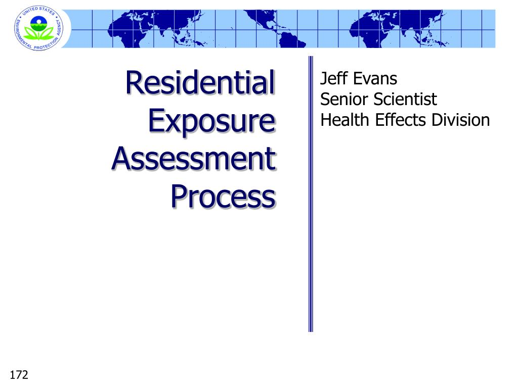 Residential Exposure Assessment Process