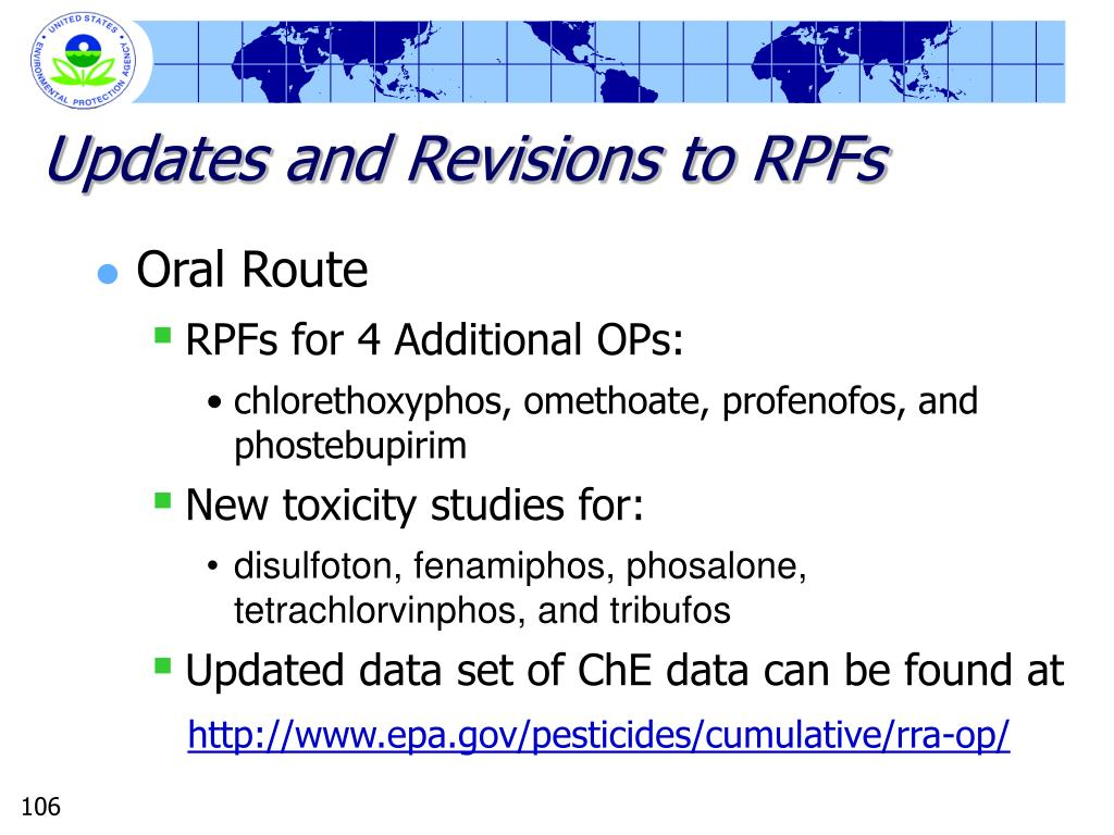 Updates and Revisions to RPFs