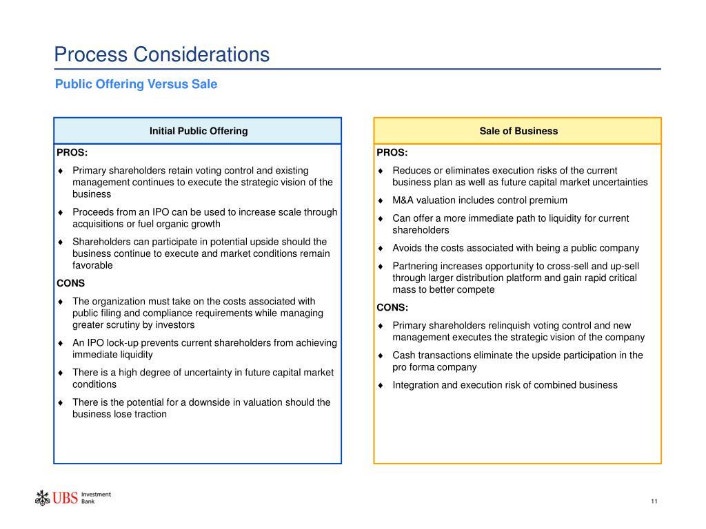 Process Considerations