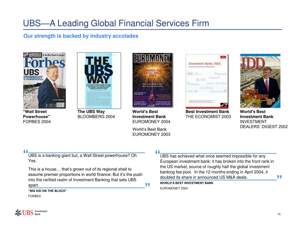 UBS—A Leading Global Financial Services Firm