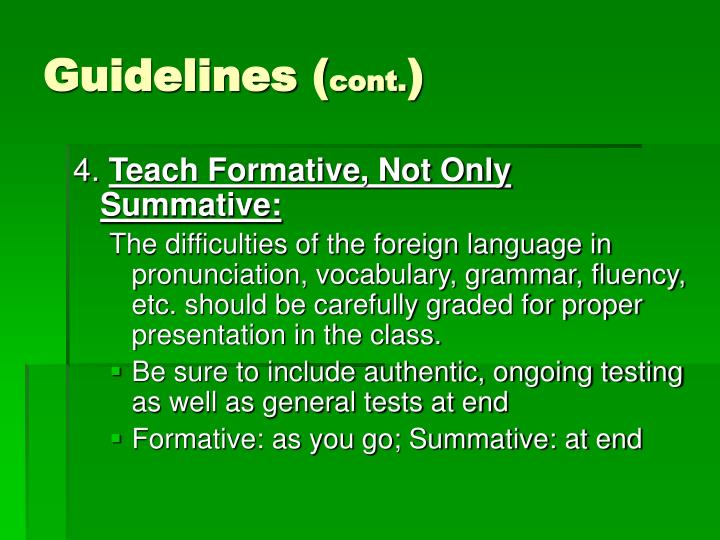 Guidelines (
