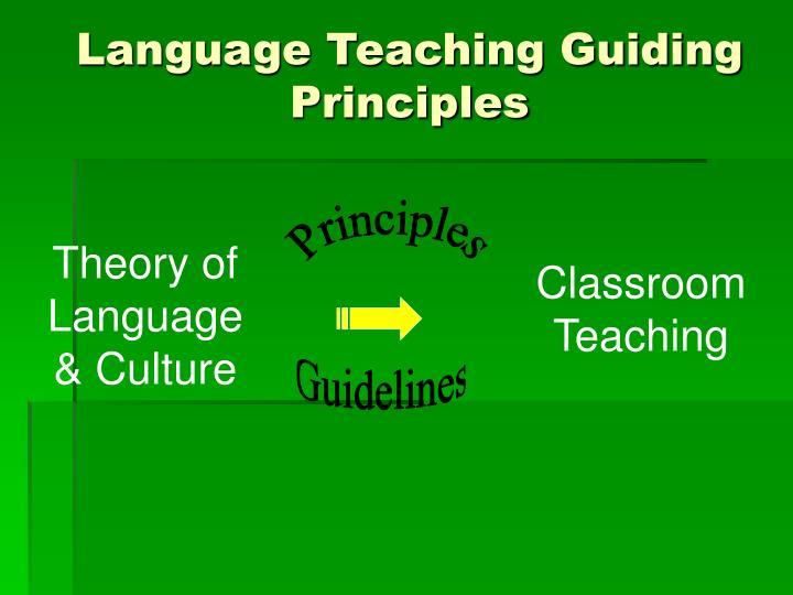 Language Teaching Guiding Principles