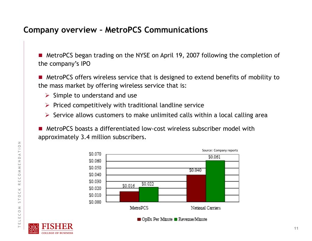 Company overview – MetroPCS Communications