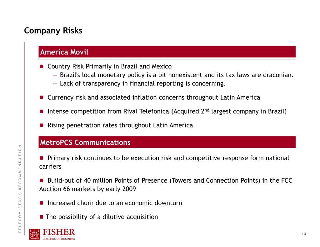 Company Risks