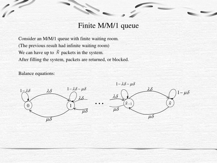 Finite m m 1 queue