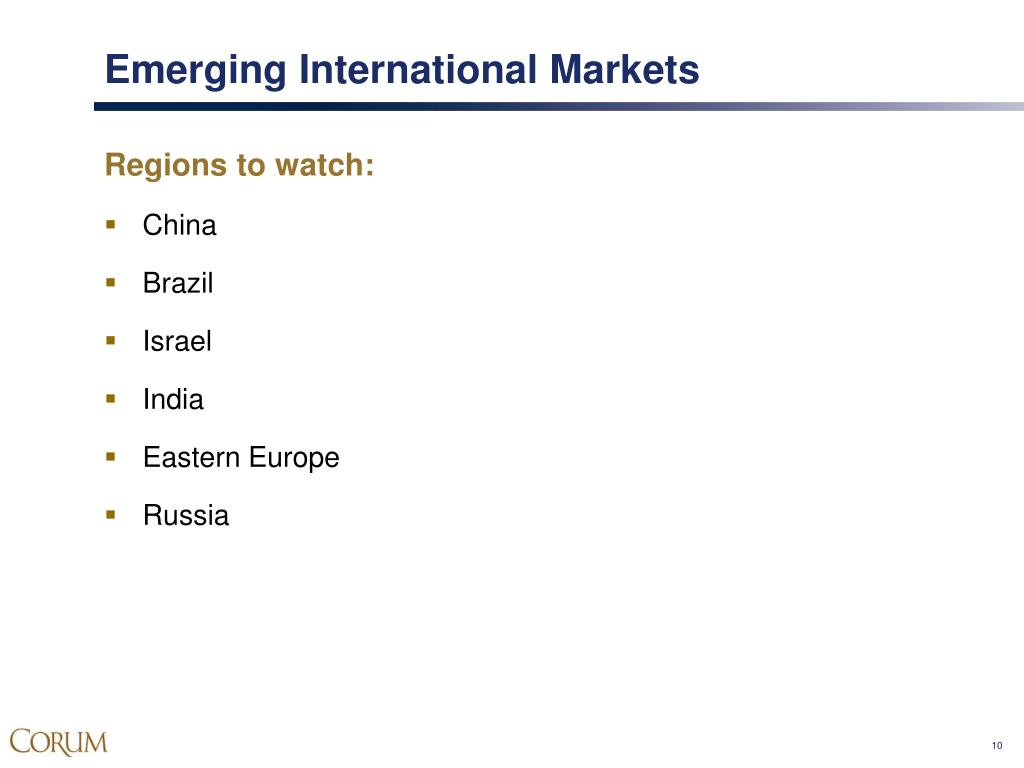 Emerging International Markets