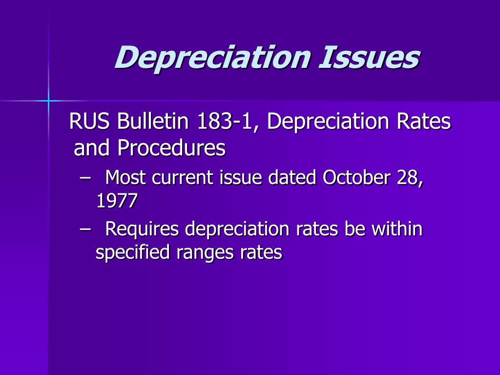 Depreciation Issues