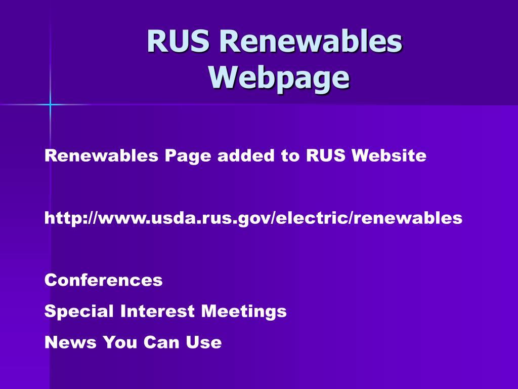 RUS Renewables