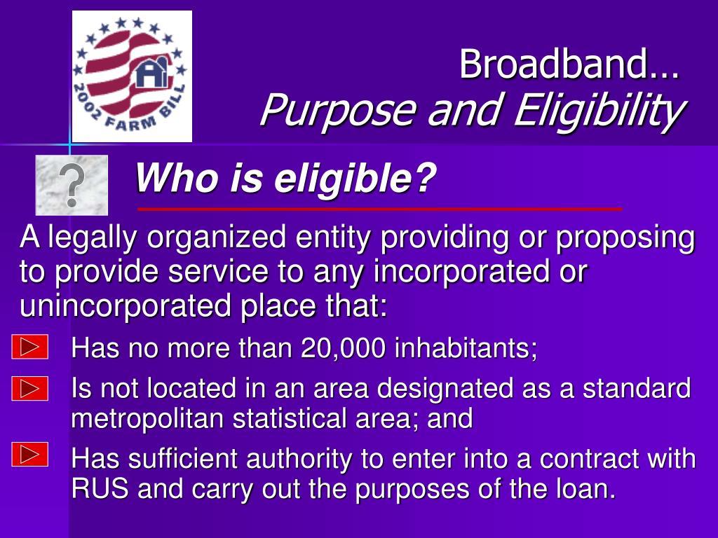 Broadband…