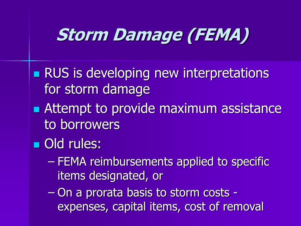 Storm Damage (FEMA)