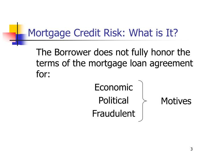 Mortgage credit risk what is it